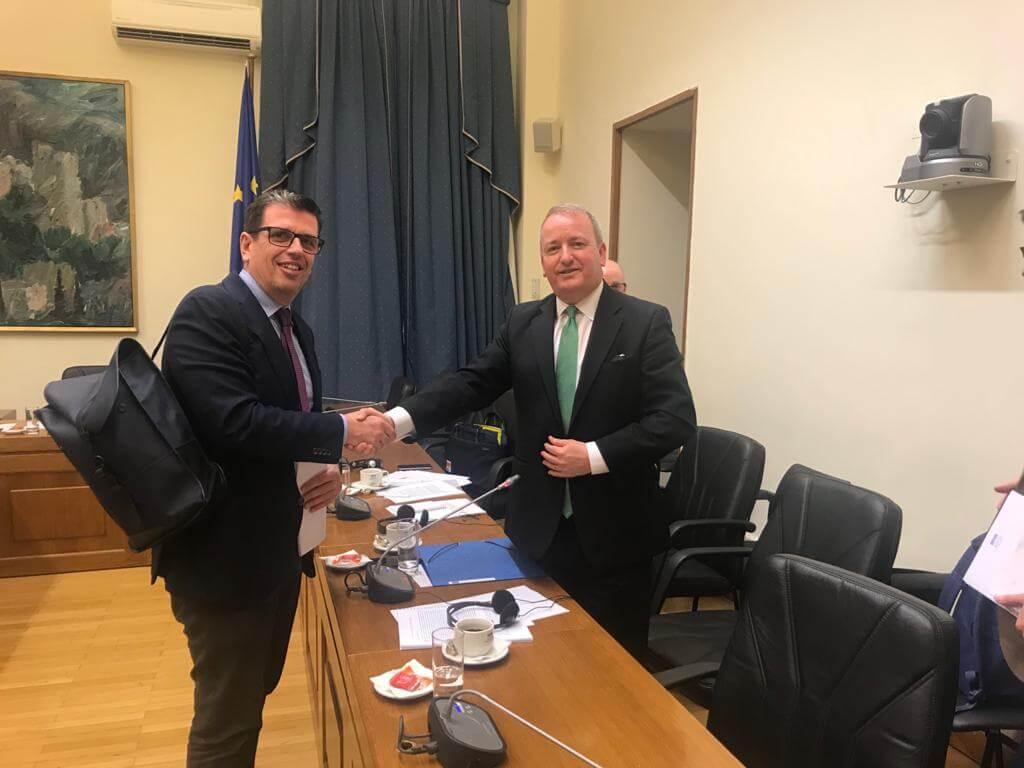Συνάντηση με τον κ. Mark Pritchard, Ειδικό Απεσταλμένο της Κοινοβουλευτικής Συνέλευσης του ΟΑΣΕ (Ε.Δ. Επιτροπή Ευρωπαϊκών Υποθέσεων, 06.03.2020)