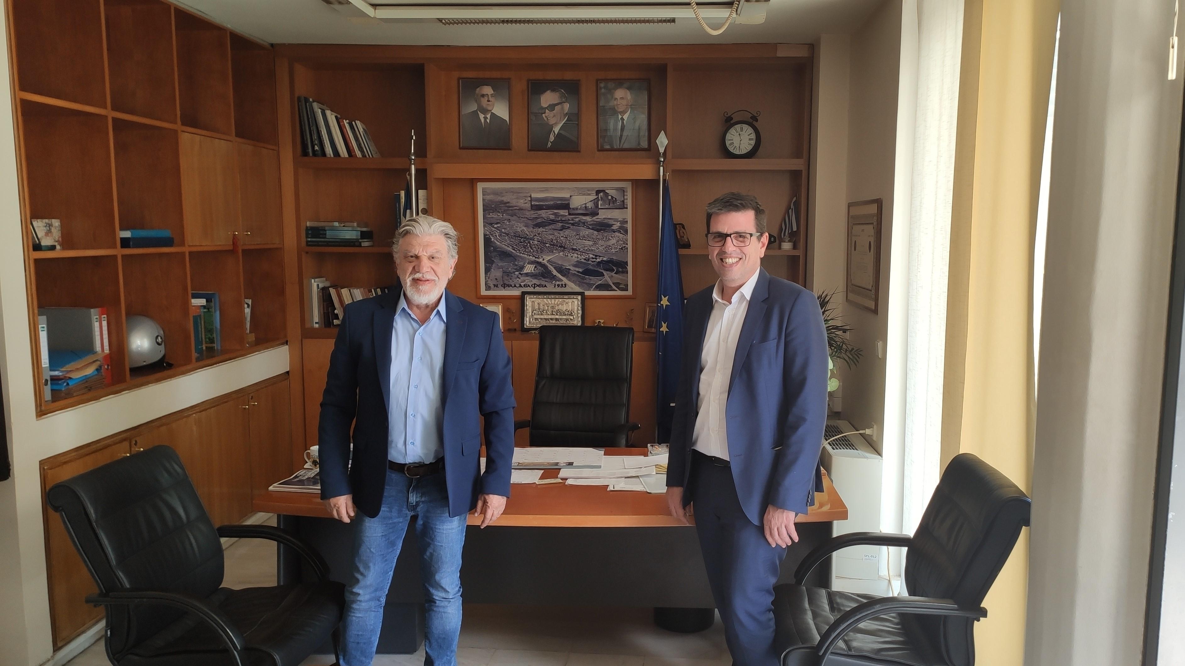 Συνάντηση με τον Γιάννη Βούρο, Δήμαρχο Νέας Φιλαδέλφειας – Νέας Χαλκηδόνας (04.06.2020)