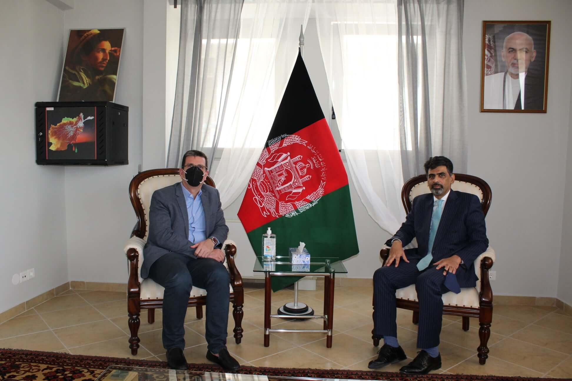 Συνάντηση με τον πρέσβη του Αφγανιστάν, Mirwais Samadi