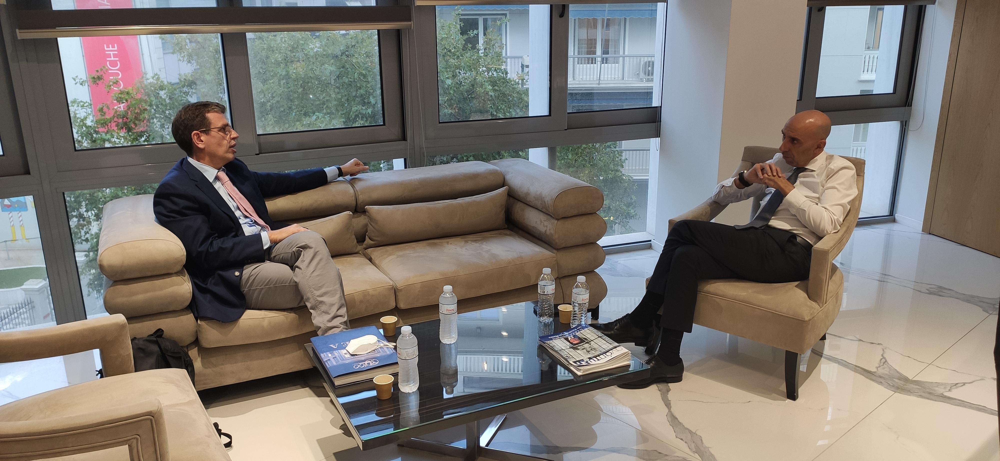 Συνάντηση με τον νέο Πρόεδρο του ΕΒΕΑ